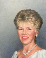 "Will Kefauver painting, ""Barbara"" portrait"