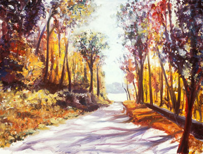 Katie Barclay - Autumn, Oil on Canvas