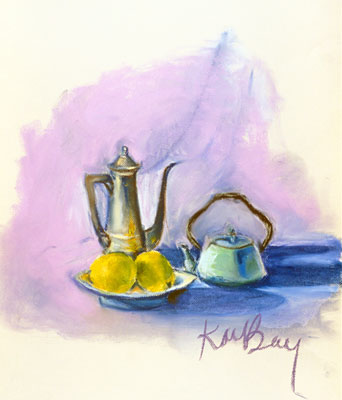 Katie Barclay - Tea and Lemons, Pastel
