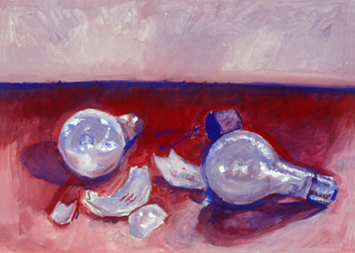 Katie Barclay - Light Bulbs, Gouache