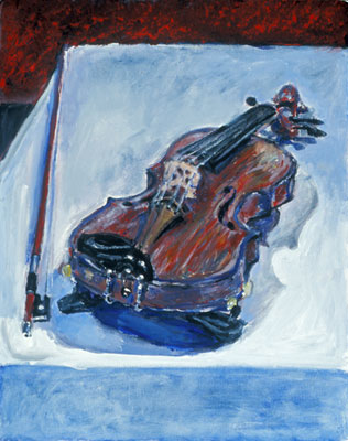 Katie Barclay - My Violin, Acrylic on Canvas