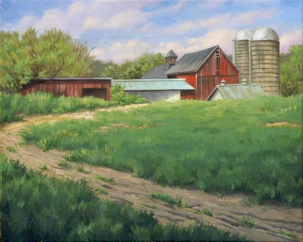"Will Kefauver, Painting, ""Farm Road"""