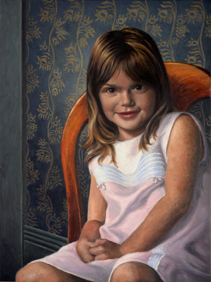 "WIll Kefauver Portraits, ""The Pink Dress — Gianna"""
