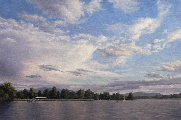 "Will Kefauver, Hudson River Paintings, ""Afternoon River, Beacon"""