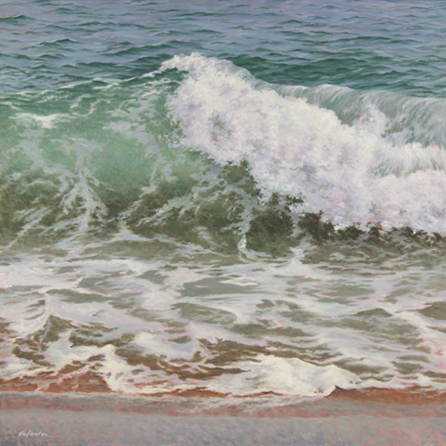 """Big Wave"", oil painting by Will Kefauver"
