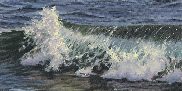 "Will Kefauver oil painting, ""Next Wave"""