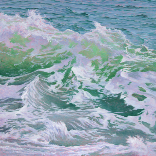 "Will Kefauver oil painting, ""Roiling II"""