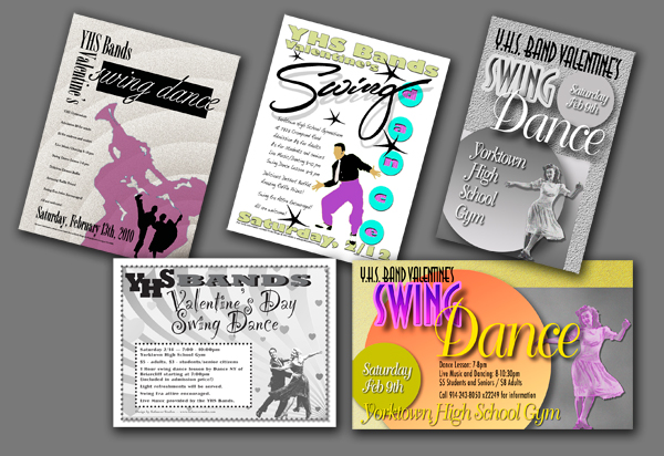 Yorktown High School Swing Dance promotions