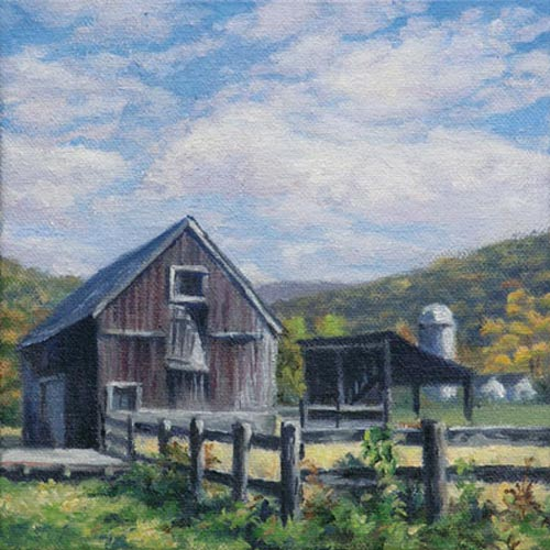 "Will Kefauver oil painting, ""Kent Farm"""