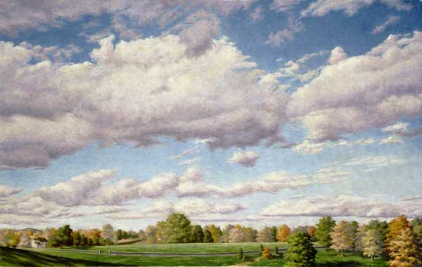"Will Kefauver oil painting, ""Rhinebeck Afternoon"""