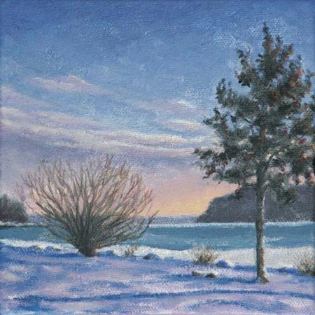 Hudson Winter, painting, Will Kefauver