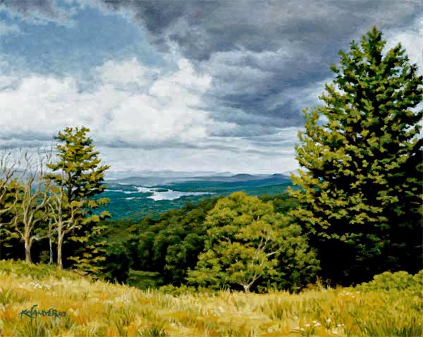 "Will Kefauver oil painting, ""Adirondack Meadow"""