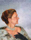 "Will Kefauver portrait in oils, ""Kathie in Fur"""