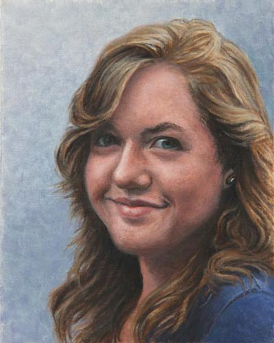 "Will Kefauver portrait in oils, ""Justine"""